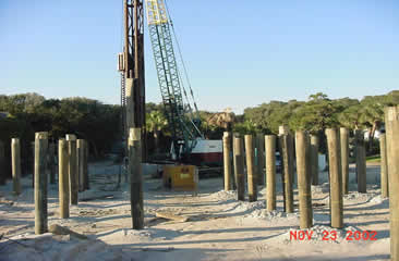 Alpha construction pile and concrete foundations for Concrete pilings for house